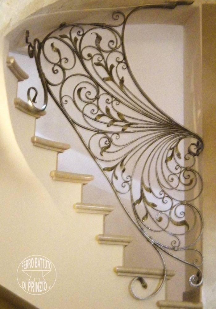 Rampes d 39 int rieur en fer escaliers en fer forg garde corps pour escalier Garde corps en fer forge pour escalier