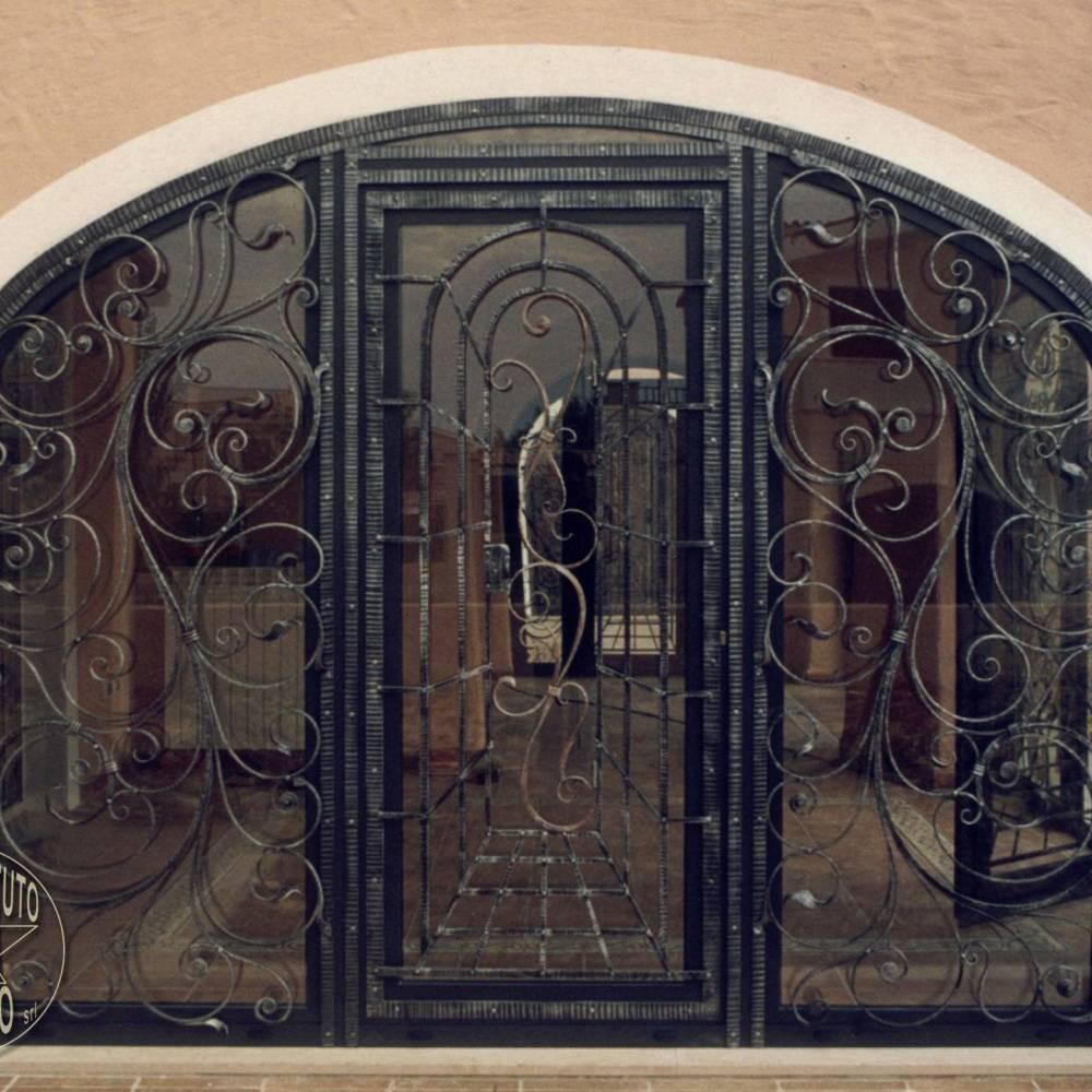 Portes en fer forg portails en fer forg lits en fer forg for Porte en verre et fer forge