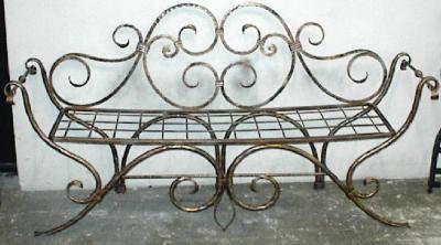 Chaises en fer forg chaises et pancs en fer forg - Panchine da esterno in ferro ...
