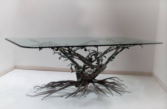Table en fer forge arbre decoratif - Table fer forge exterieur ...