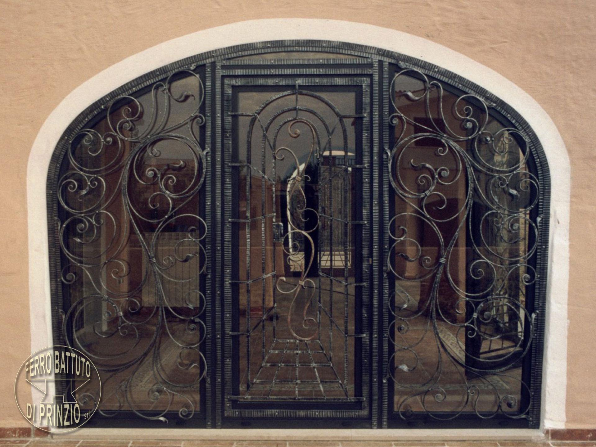 Portes en fer forg portails en fer forg lits en fer forg for Porte en fer et verre